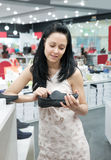 Woman in shop Royalty Free Stock Photography
