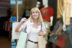 Woman shoping Royalty Free Stock Images