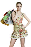 Woman shopper Stock Photo