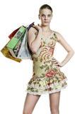 Woman shopper Stock Photo
