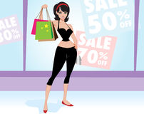 Woman shopper Stock Images