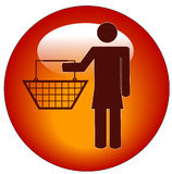 Woman shopper icon Royalty Free Stock Image