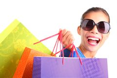 Woman shopping royalty free stock photos