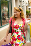 Woman shopping Stock Photos