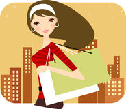 Woman at the shopping Stock Photography