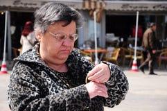Woman shopping. Portrait of a senior woman shopping Stock Photos