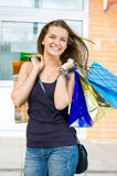 Woman with shopping Stock Images