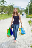 Woman with shopping Stock Photo