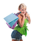 Woman in a shopping Stock Photo