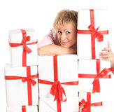 Woman with shopping Royalty Free Stock Image