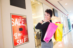 Woman shopping Stock Image