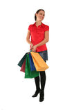 Woman Shopping. Happy woman with shopping bags Royalty Free Stock Photos