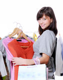 Woman Shopping Royalty Free Stock Images