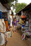 Woman Shopping in African Market Stock Image