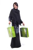 Woman and shopping bag Royalty Free Stock Image