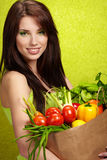 Woman with a shopping bag Stock Photo