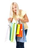 Woman with shopping bag Royalty Free Stock Image