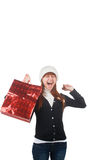 Woman with shopping bag Stock Photos