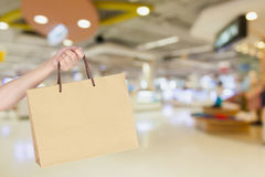 Woman with shopping bag Royalty Free Stock Photo