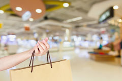 Woman with shopping bag Royalty Free Stock Photography