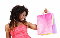 Woman with shopping bag's. Stock Photos