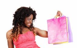 Woman with shopping bag's. Stock Photos