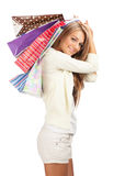 Woman with shopping bags Stock Photos