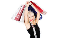 Woman and shopping bags Royalty Free Stock Images