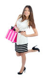 Woman shopping bags Royalty Free Stock Image