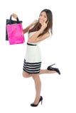 Woman shopping bags Stock Photos