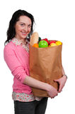 Woman Shopping Bags Royalty Free Stock Photography