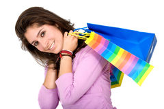Woman - shopping bags Stock Image