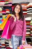 Woman - shopping bags Royalty Free Stock Photography
