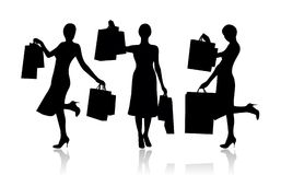 Woman with shopping bags. Vector Stock Photo