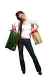 Woman Shopping Bags Royalty Free Stock Photos