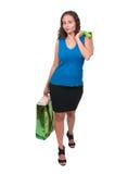 Woman Shopping Bags Stock Image