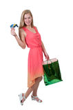 Woman Shopping Bags Royalty Free Stock Images