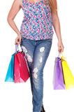 Woman with shopping bags. Stock Photos