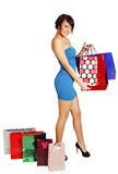 Woman with shopping bags Stock Image