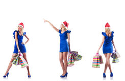 The woman with shopping bags Royalty Free Stock Images