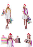 The woman with shopping bags Royalty Free Stock Photos