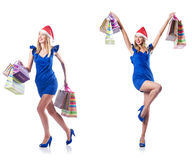 The woman with shopping bags Royalty Free Stock Photo