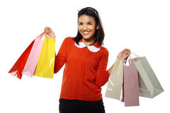 Woman With Shopping Bags Stock Images