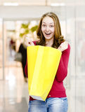 Woman with Shopping Bags in Shopping Mall Stock Images