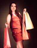 Woman with shopping bags. Royalty Free Stock Image