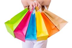 Woman with shopping bags. Stock Images