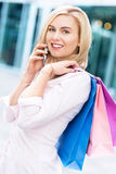Woman with shopping bags Stock Photography
