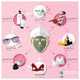 Woman Shopping Beauty And Fashion Lifestyle Infographic Royalty Free Stock Image