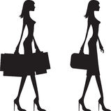 Woman shopping and business woman Royalty Free Stock Image
