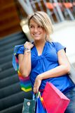 Woman at a shopping center Royalty Free Stock Photography
